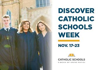 Discover Catholic Schools week poster