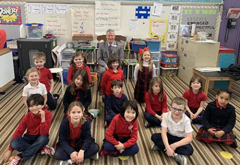 First graders at St. Stephen's