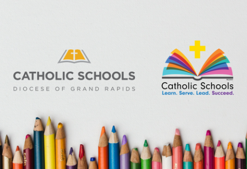 Diocese of Grand Rapids Schools and Catholic Schools logos