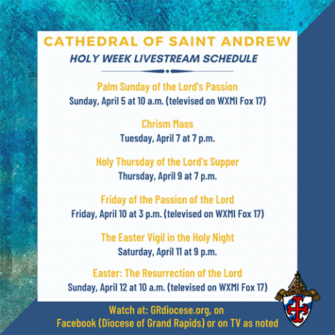 Holy Week Live Stream Schedule 2020
