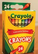 Crayons given to Bishop Walkowiak by Saint Thomas the Apostle students.